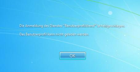Benutzerprofildienst Kann Nicht Geladen Werden Windows 7